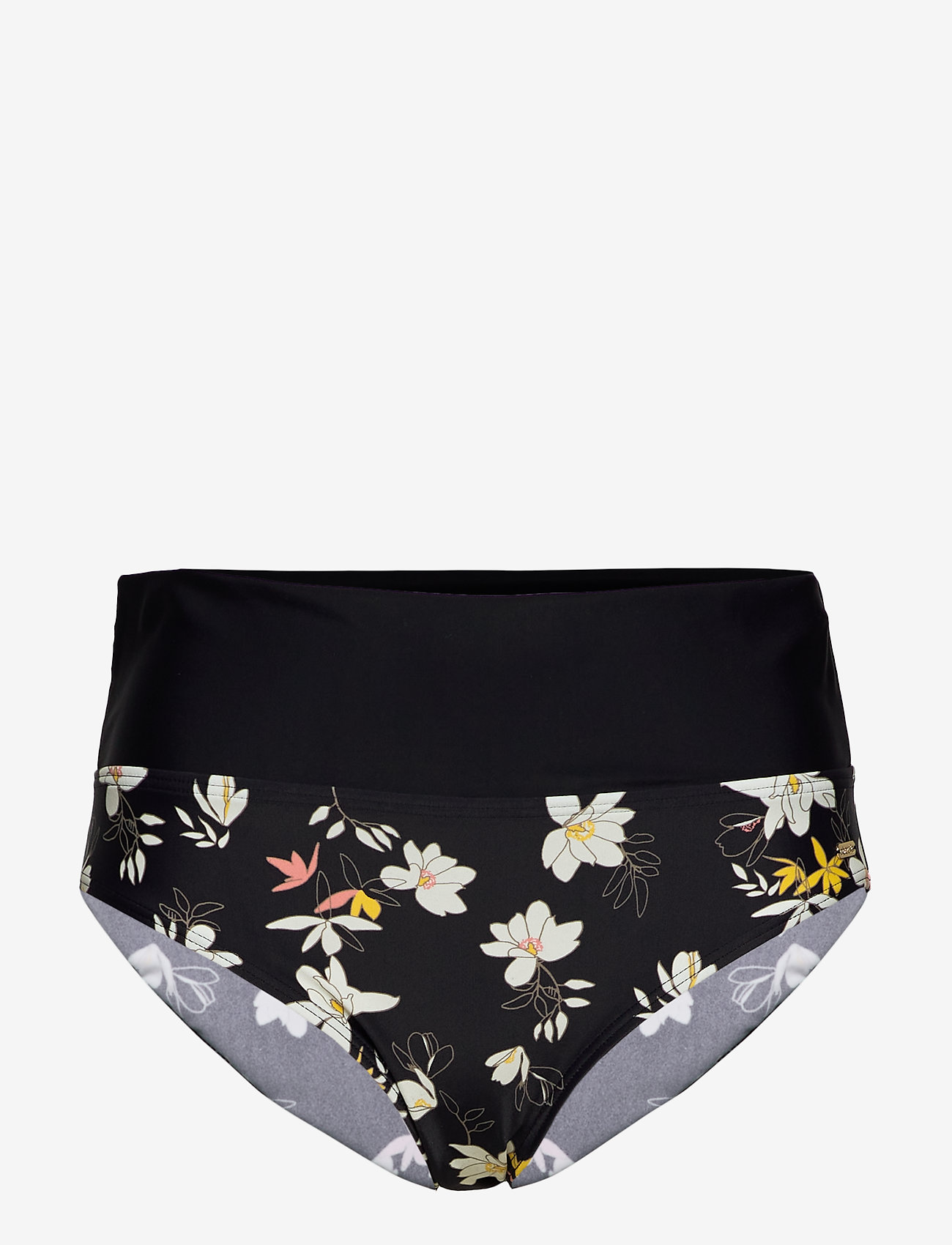 Abecita - Malaga, folded brief - bikinialaosat - black/white