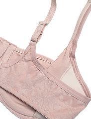 Abecita - Beatrice, moulded wire - biustonosze z wypełnieniem - shadow pink - 3