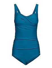 Twisted Solid Swimsuit - OCEAN DEPTHS/BLUE