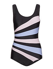 Action Swimsuit - BLACK/BLUE/PINK