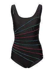 Action lines, swimsuit - BLACK/GREEN/PINK