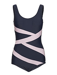 Twist, swimsuit - NAVY/PINK