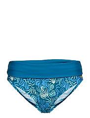 Miami Twisted Folded brief - OCEAN DEPTHS/BLUE