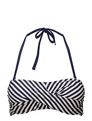 Sailor, twisted bandeau bra - WHITE/NAVY