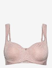 Abecita - Beatrice, moulded wire - biustonosze z wypełnieniem - shadow pink - 0