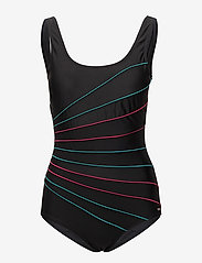 Abecita - Action lines, swimsuit - maillots 1 pièce - black/green/pink - 0