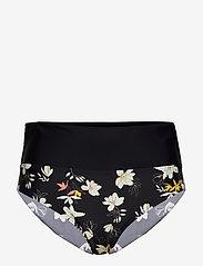 Abecita - Malaga, folded brief - bikinialaosat - black/white - 0