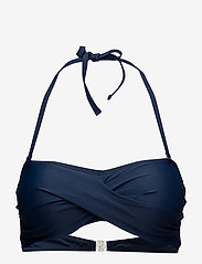 Abecita - Alanya, twisted bandeau - bikini augšiņa ar lencēm - navy - 0