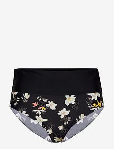 Malaga, folded brief - bikini bottoms - black/white