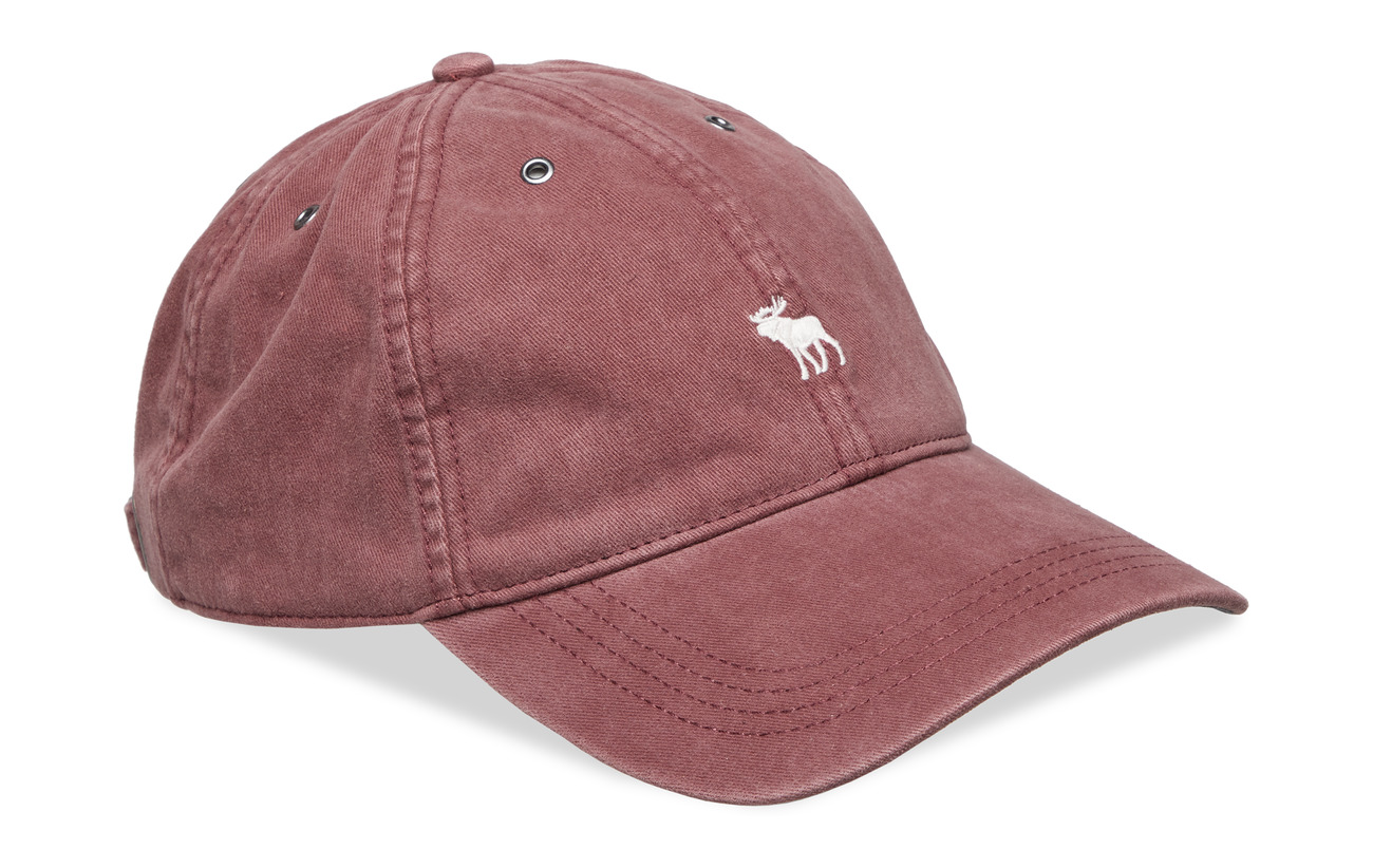 Abercrombie & Fitch Twill Icon Cap - BURGUNDY DD