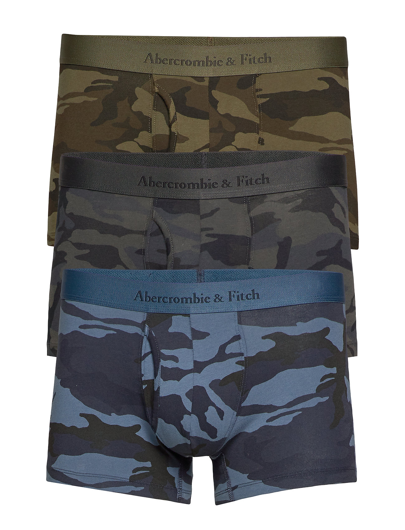 Abercrombie & Fitch Trunk Core Multipack - GREEN PATTERN