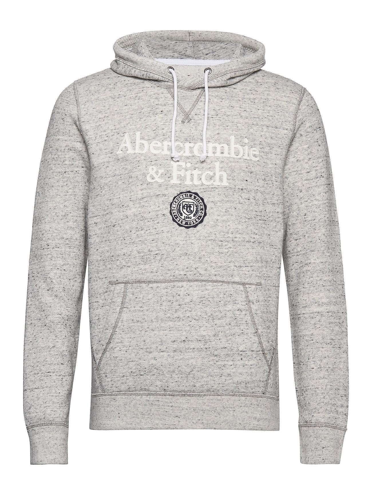 Abercrombie & Fitch Sweatshirt Logo - MED GREY SD/TEXTURE