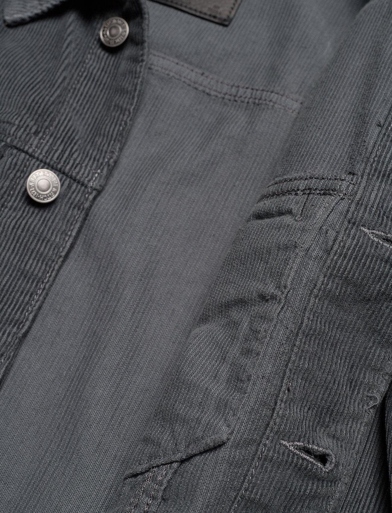 Abercrombie & Fitch Corduroy Trucker Jacket - Jakker Og Frakker Dark Grey Flat