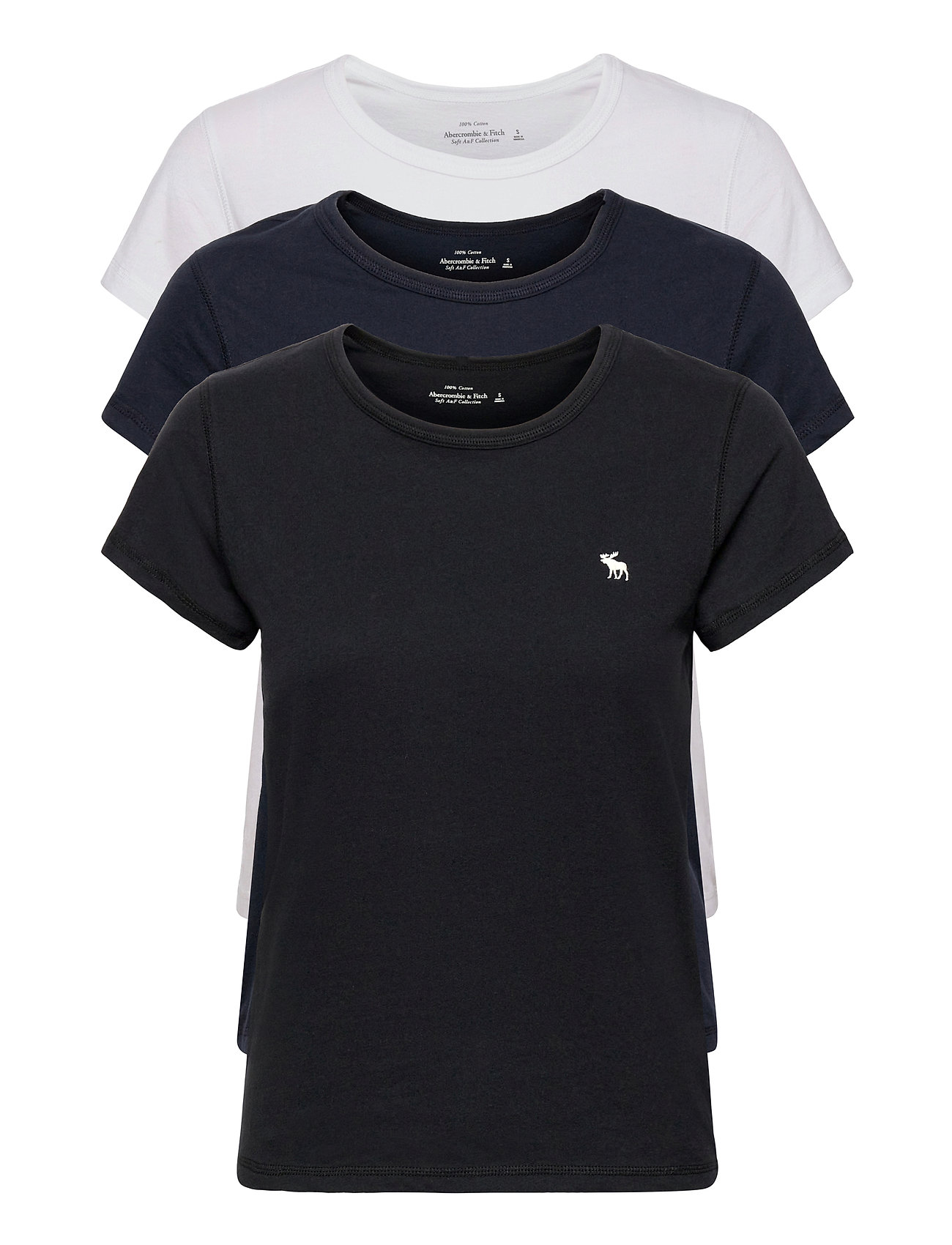 Anf Womens Knits T-shirt Top Blå Abercrombie & Fitch