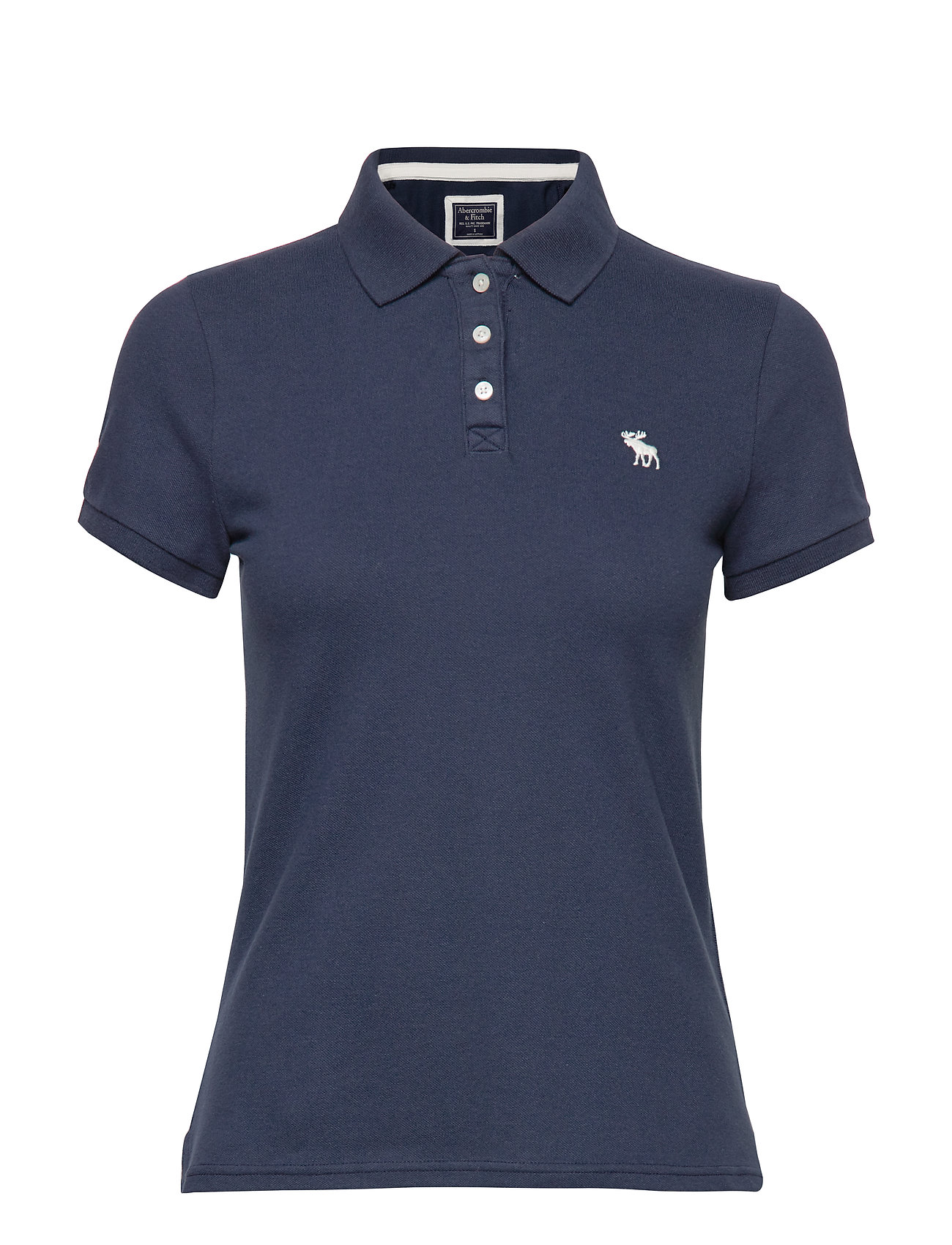 Abercrombie & Fitch Short Sleeve Polo - MED BLUE DD