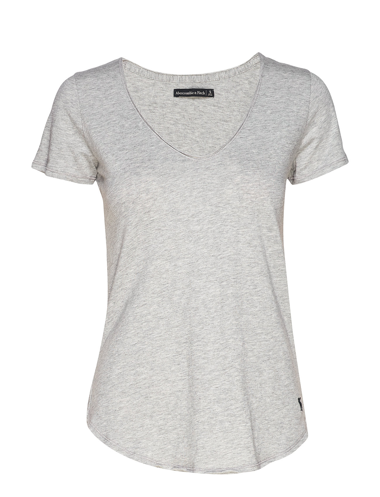 Abercrombie & Fitch Tee - LIGHT GREY SD/TEXTURE
