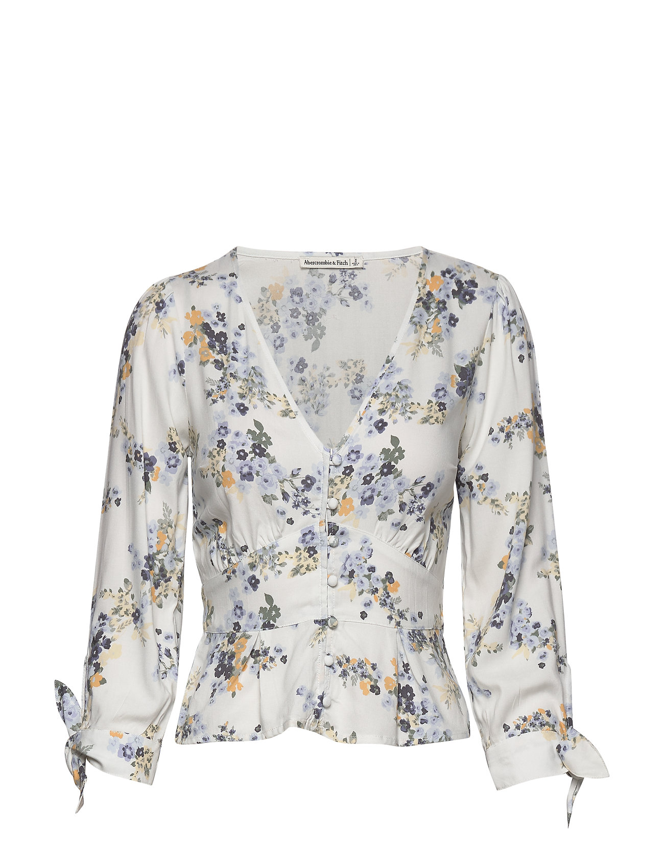 Abercrombie & Fitch Mimosa Top - WHITE PATTERN