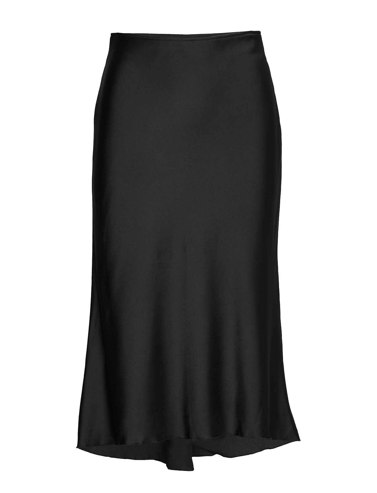 Abercrombie & Fitch High-Low Midi Skirt - BLACK DD
