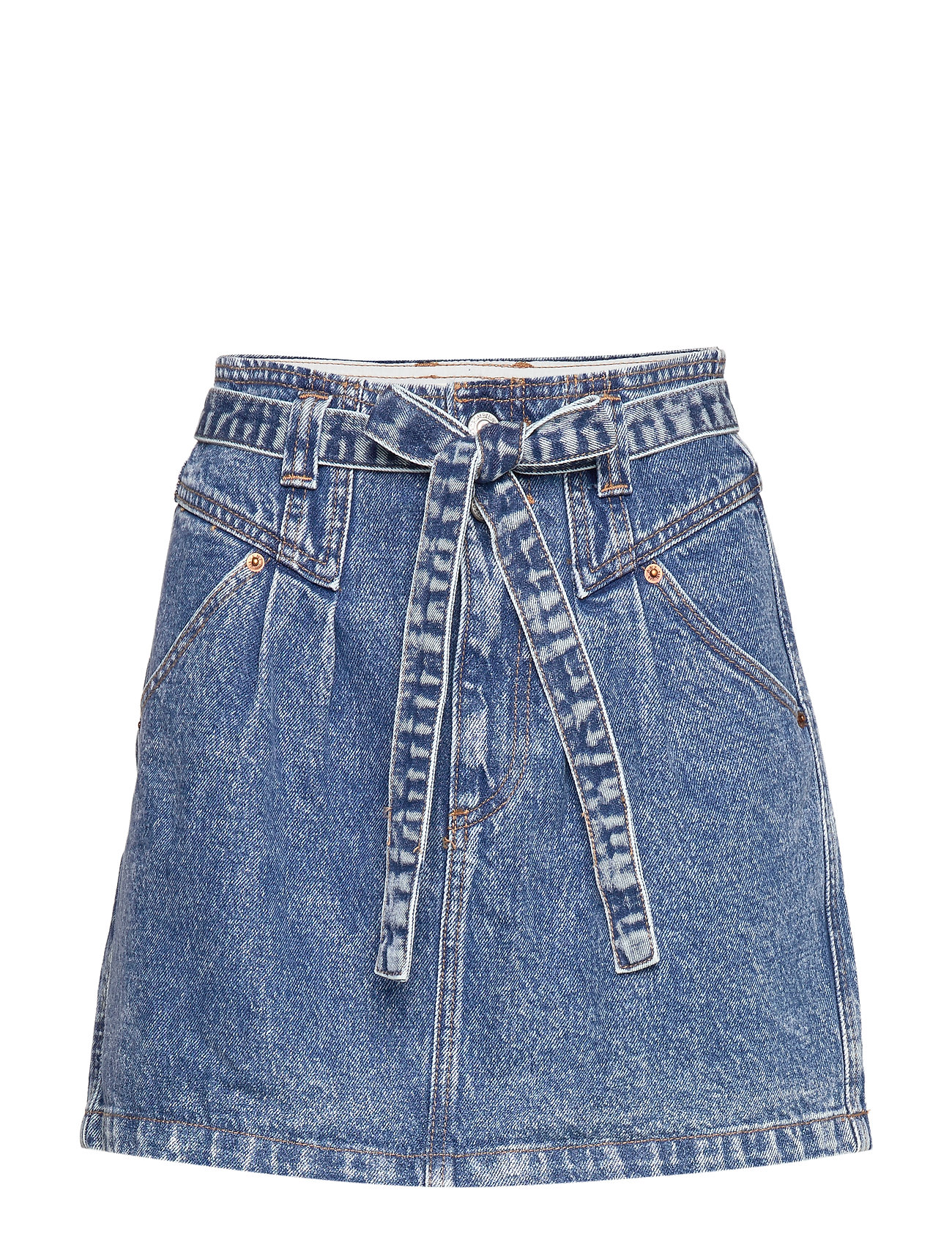 Abercrombie & Fitch Button Front Skirt - LIGHT