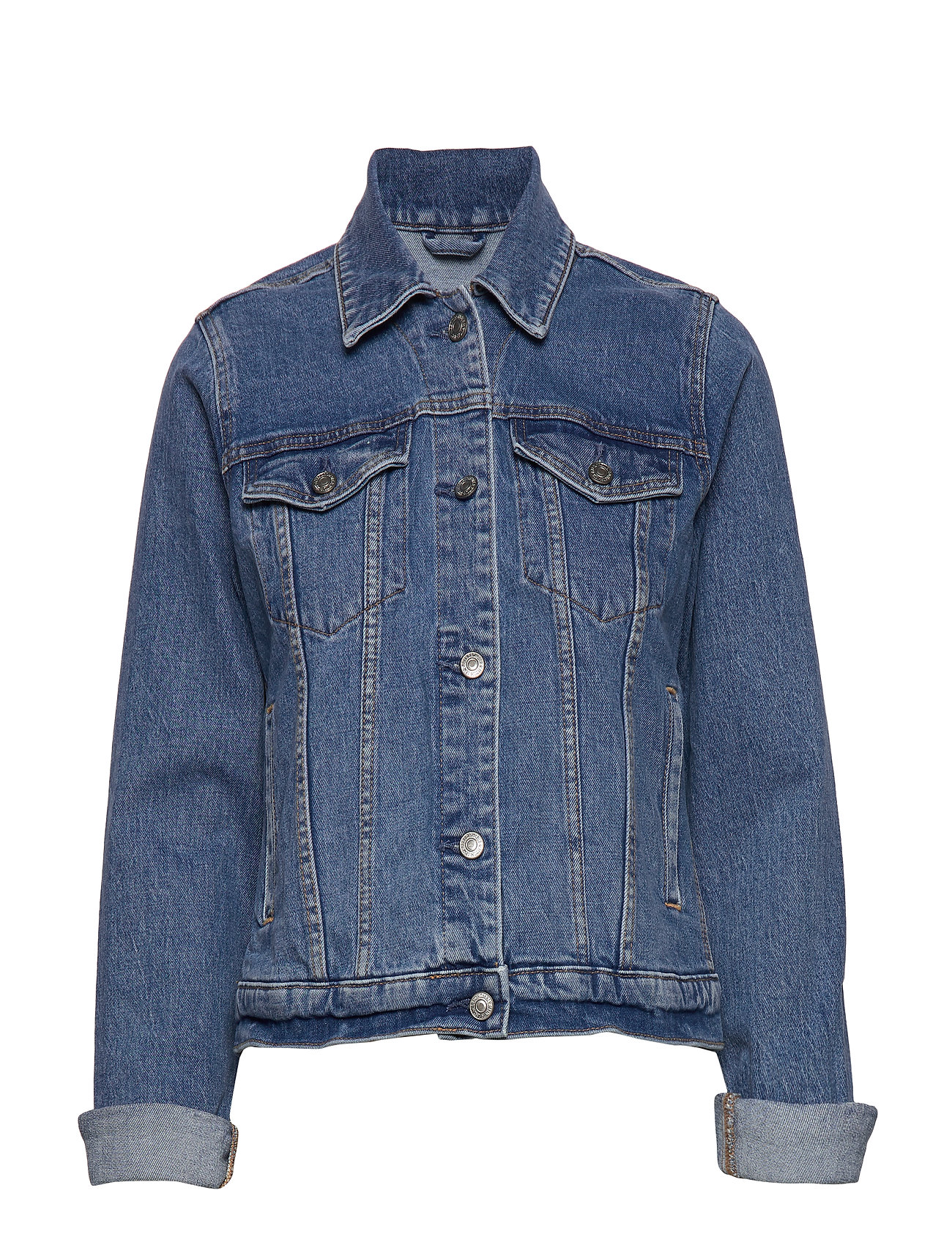 Abercrombie & Fitch Classic Denim Jacket - LIGHT BLUE DD