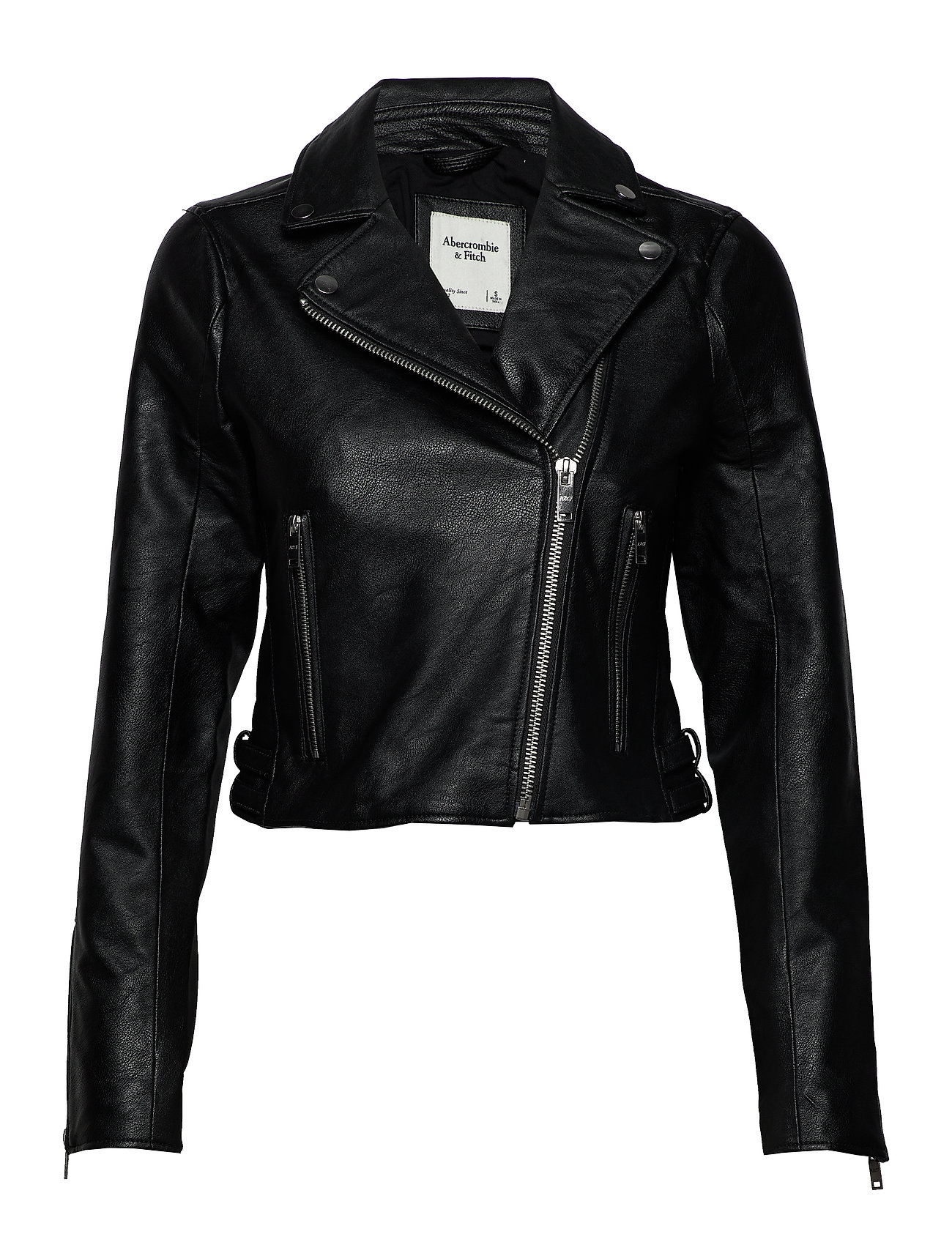 Abercrombie & Fitch Faux Leather Moto - BLACK DD