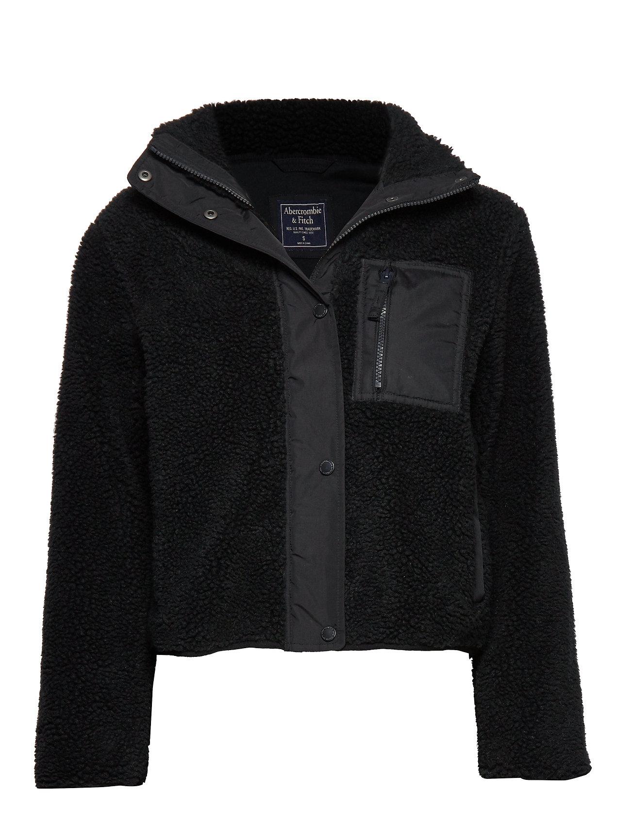 Abercrombie & Fitch Dad Fleece Coat - BLACK DD