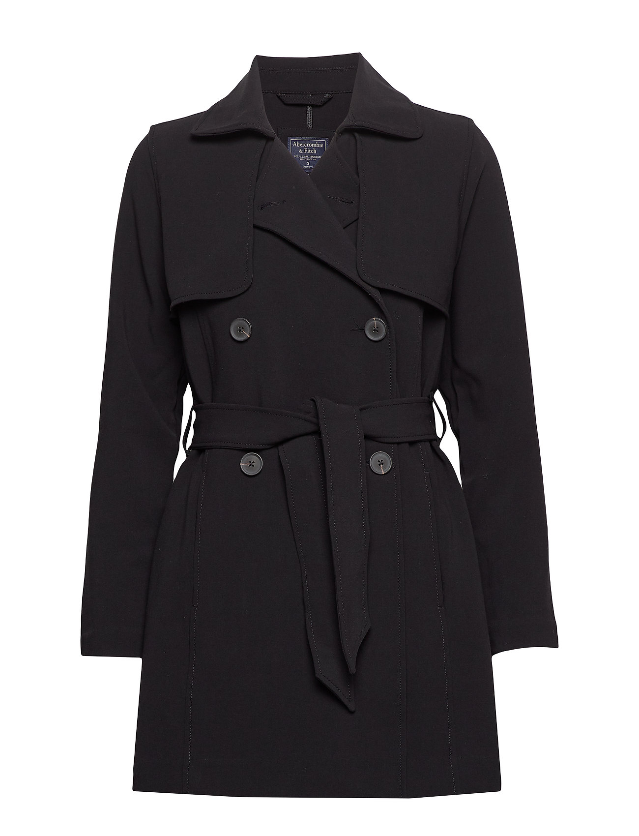 Abercrombie & Fitch Drapey Trench - BLACK DD