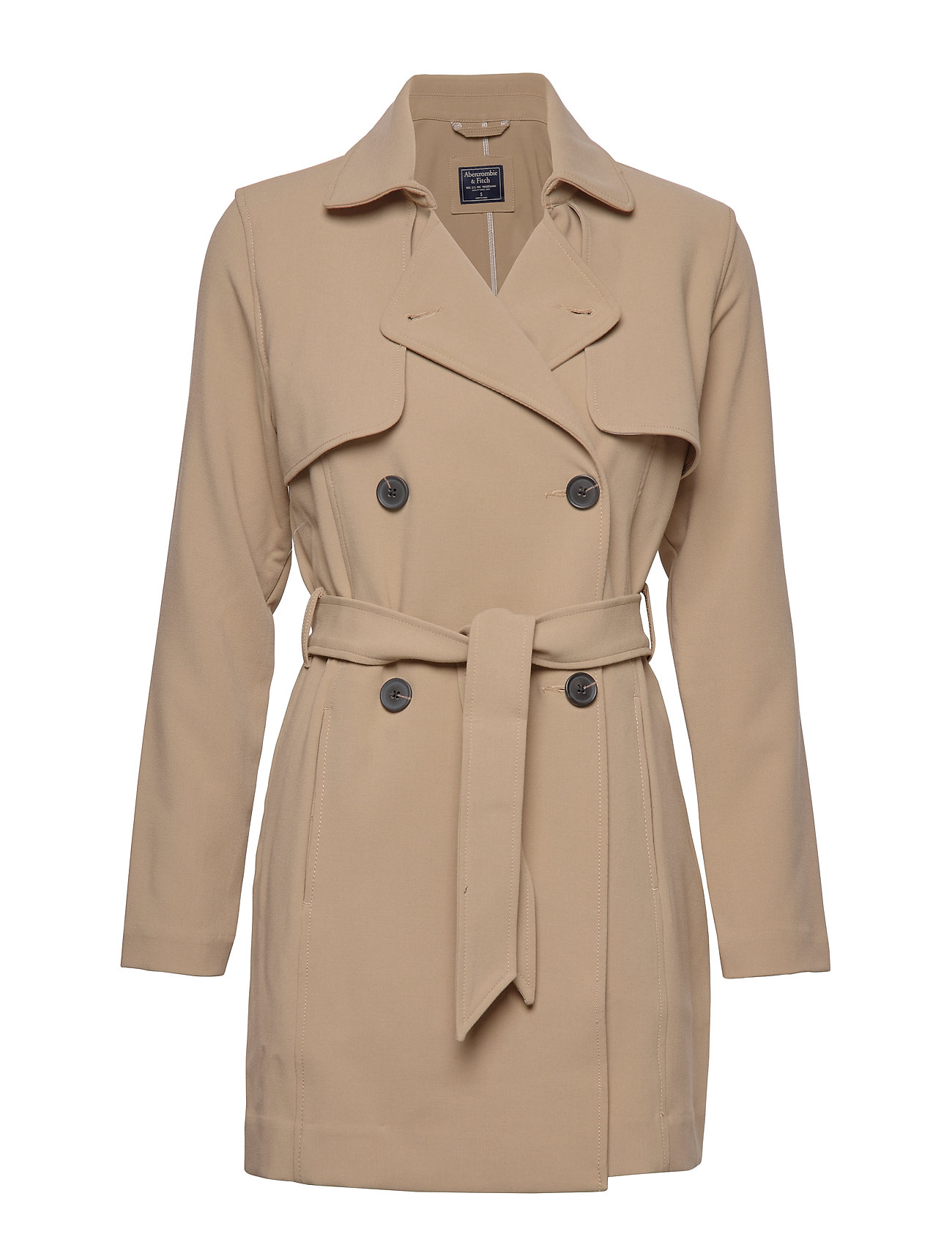 Abercrombie & Fitch Drapey Trench - LIGHT BROWN DD