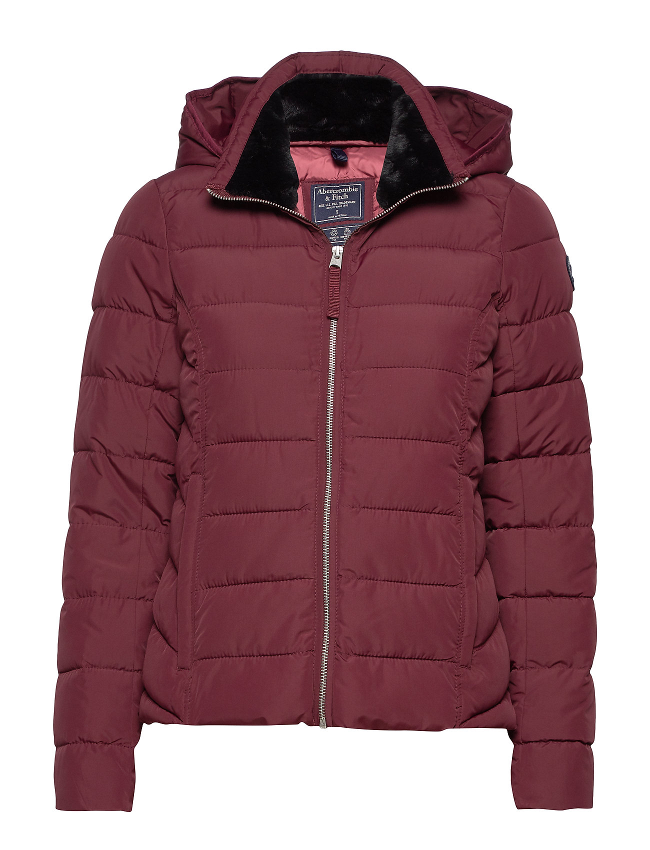 Abercrombie & Fitch Packable Puffer Coat - BURGUNDY DD
