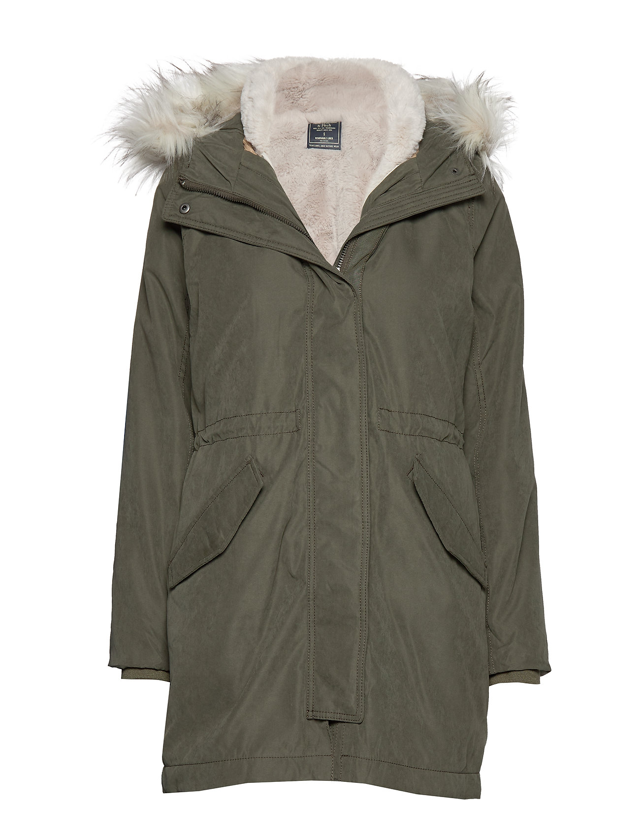 Abercrombie & Fitch Parka - OLIVE DD