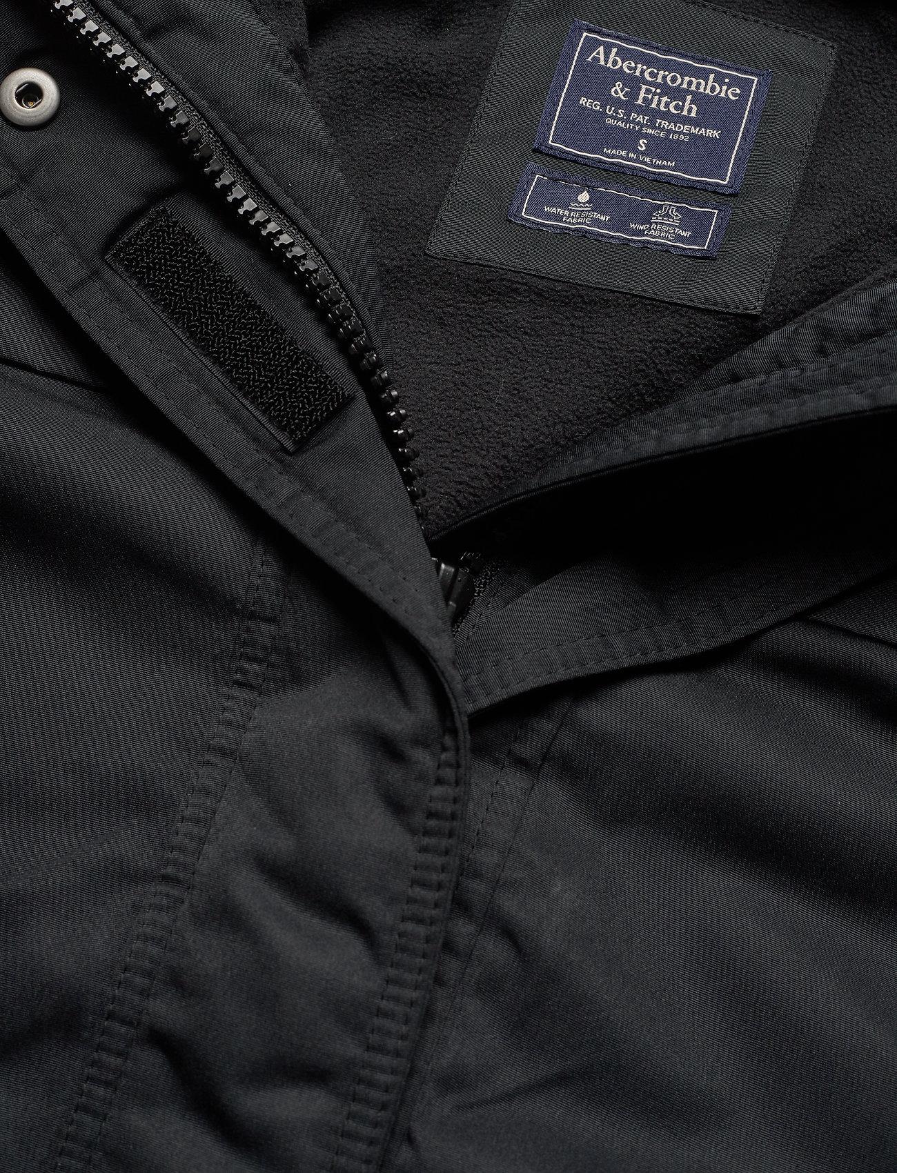 Abercrombie & Fitch Tech Jacket - Kurtki i Płaszcze BLACK DD - Kobiety Odzież.