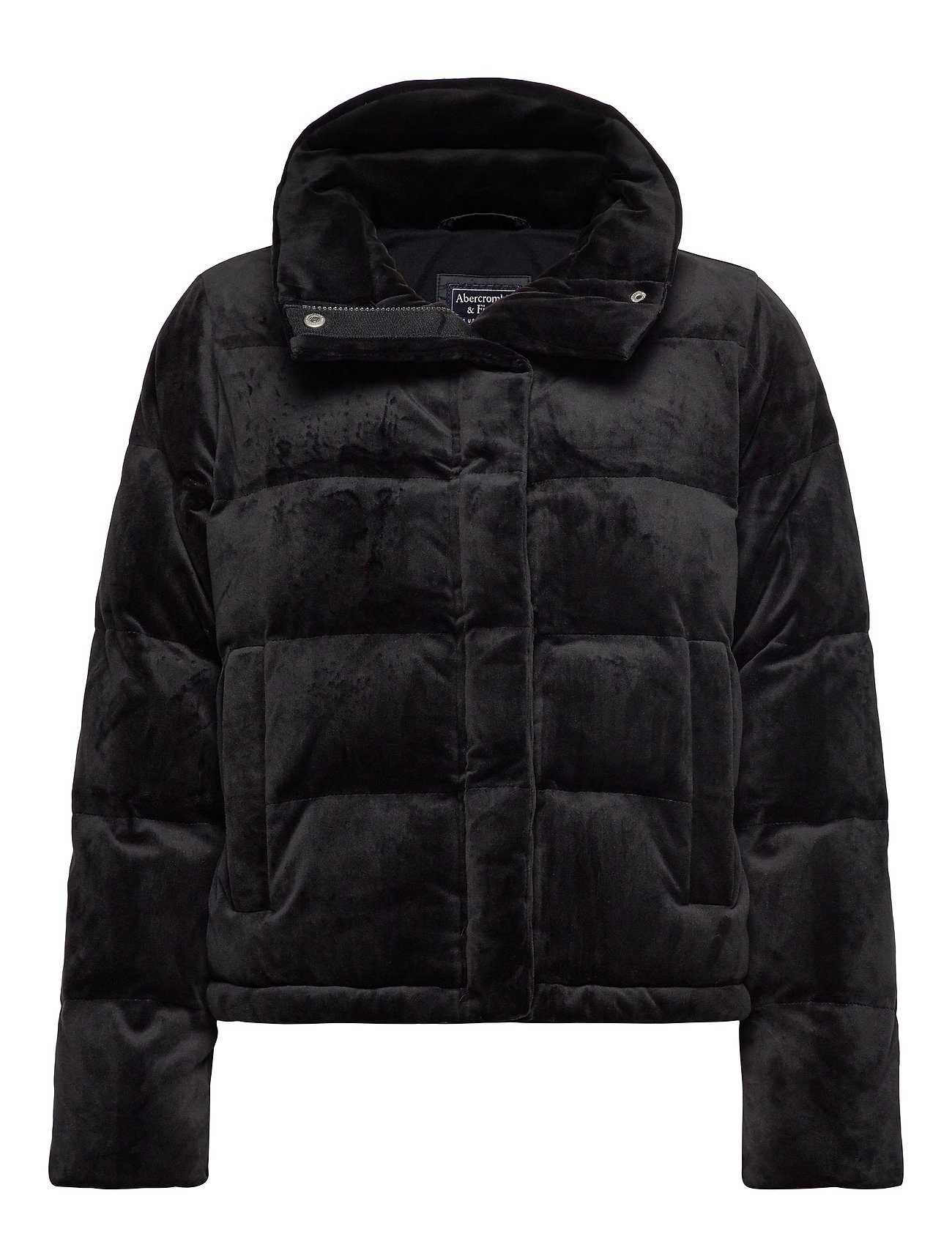 Abercrombie & Fitch Mini Puffer - BLACK SD/TEXTURE