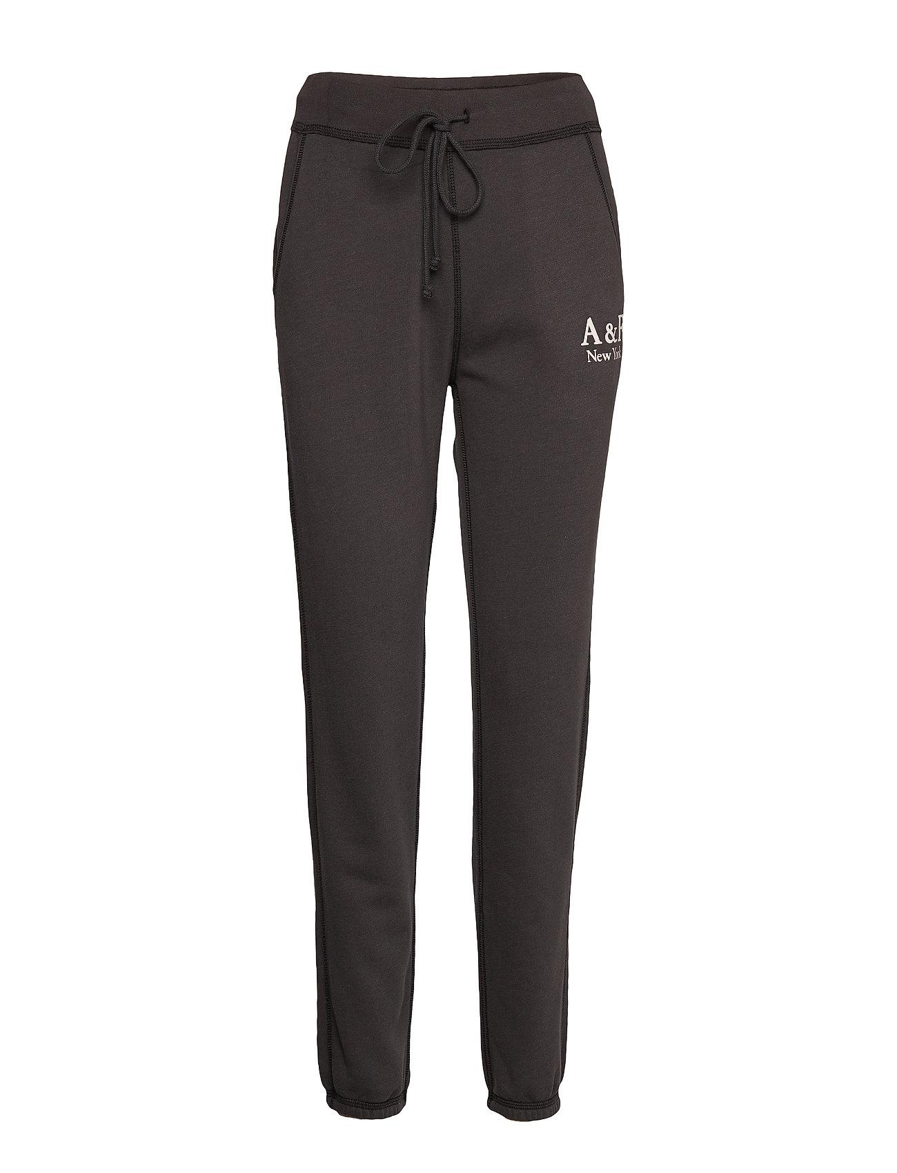 Abercrombie & Fitch Logo Sweatpants - BLACK DD