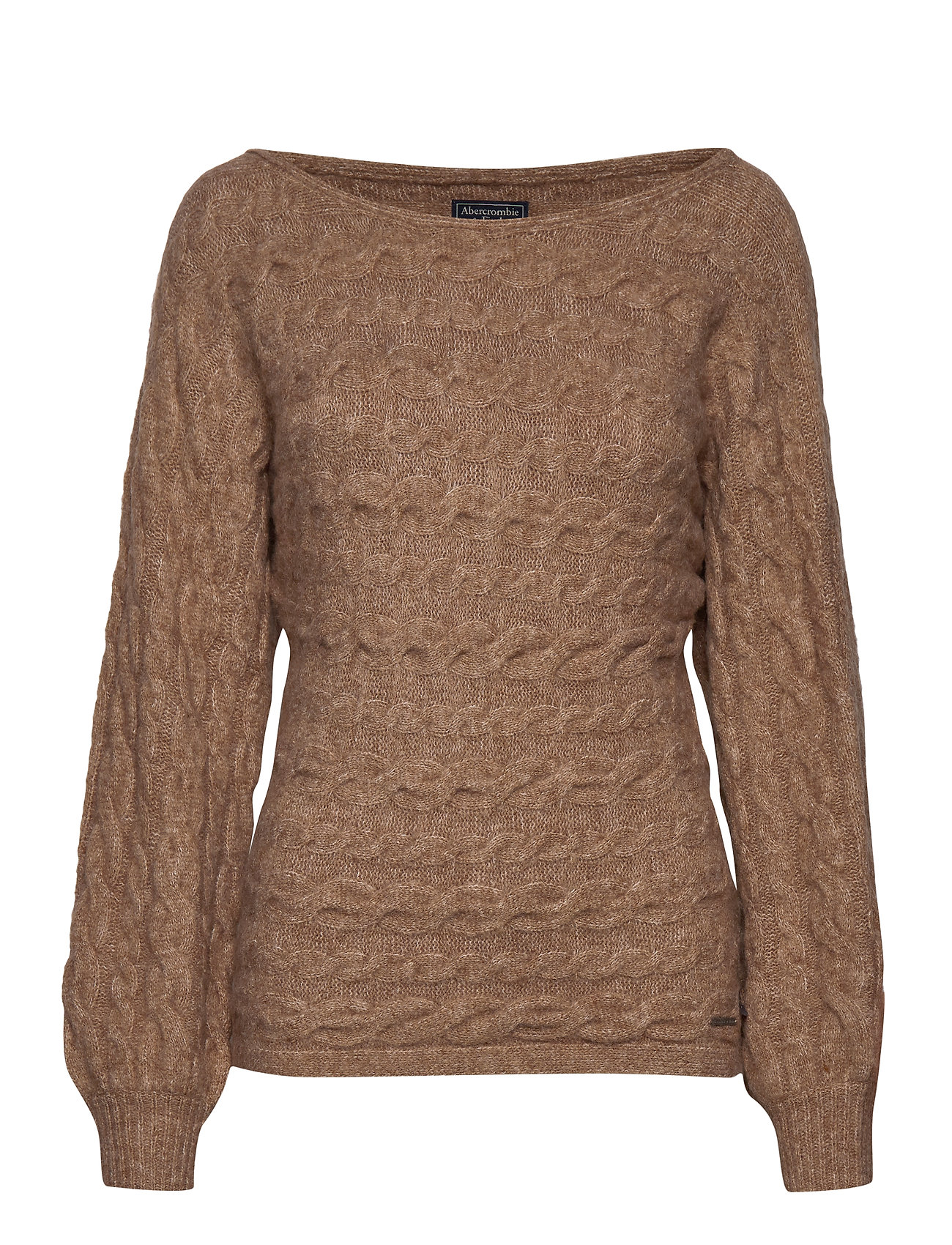 Abercrombie & Fitch Boatneck Sweater - LIGHT BROWN SD/TEXTURE