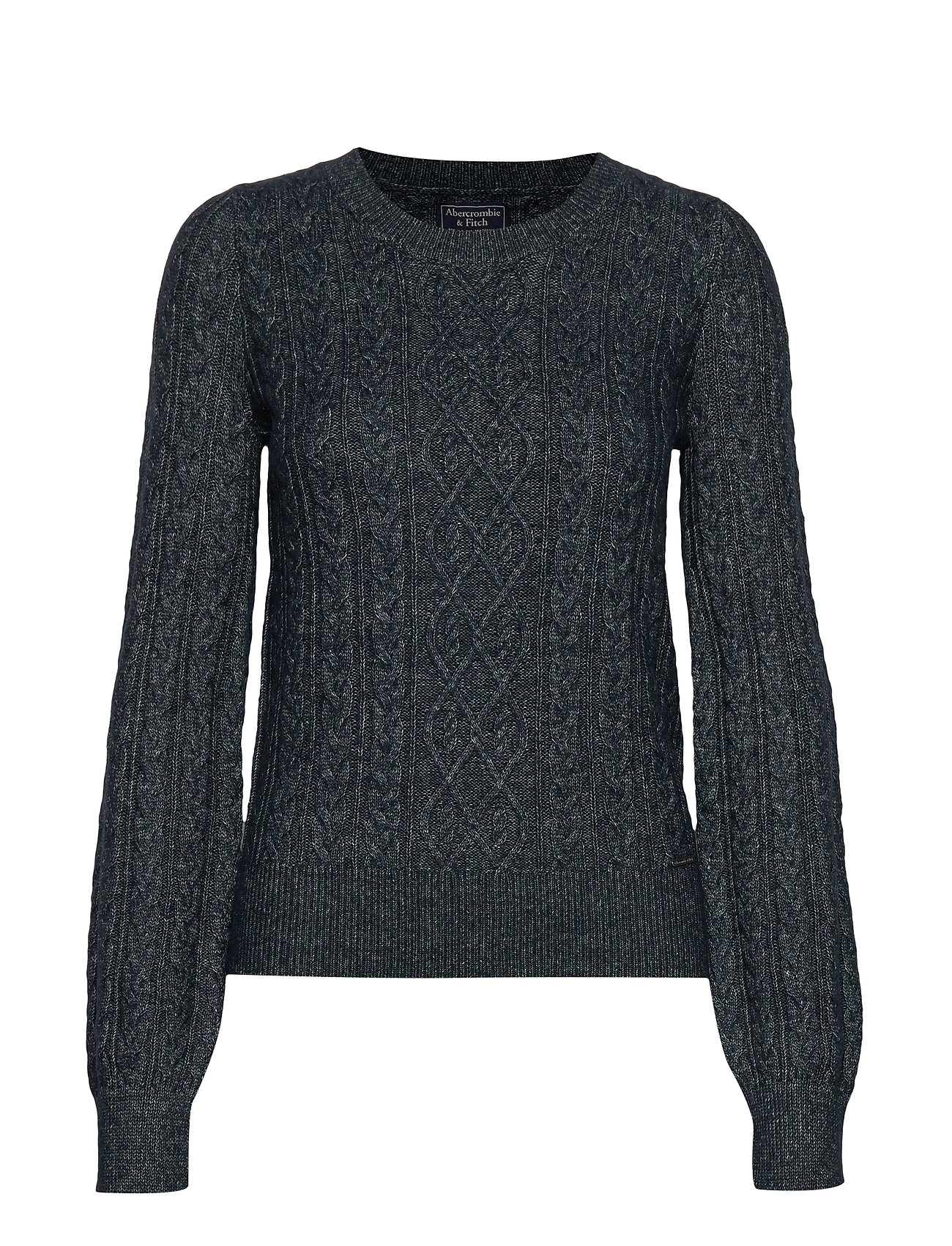 Abercrombie & Fitch Cable Sweater - NAVY SD/TEXTURE