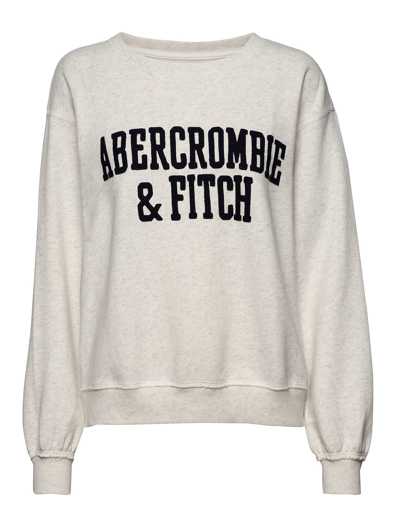 Abercrombie & Fitch Heritage Relaxed Crew - LIGHT GREY SD/TEXTURE