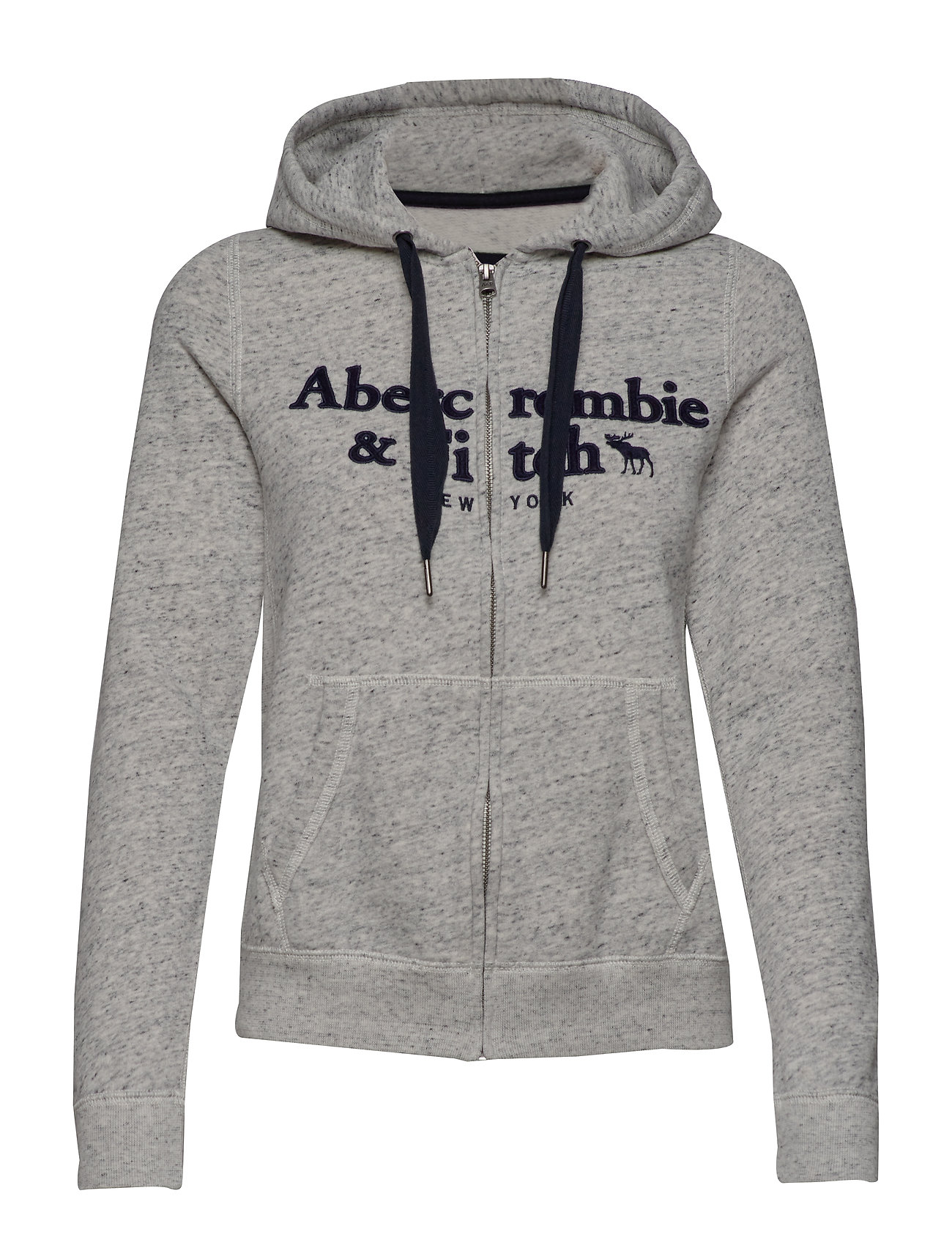 Abercrombie & Fitch Classic Logo Full-Zip - LIGHT GREY SD/TEXTURE
