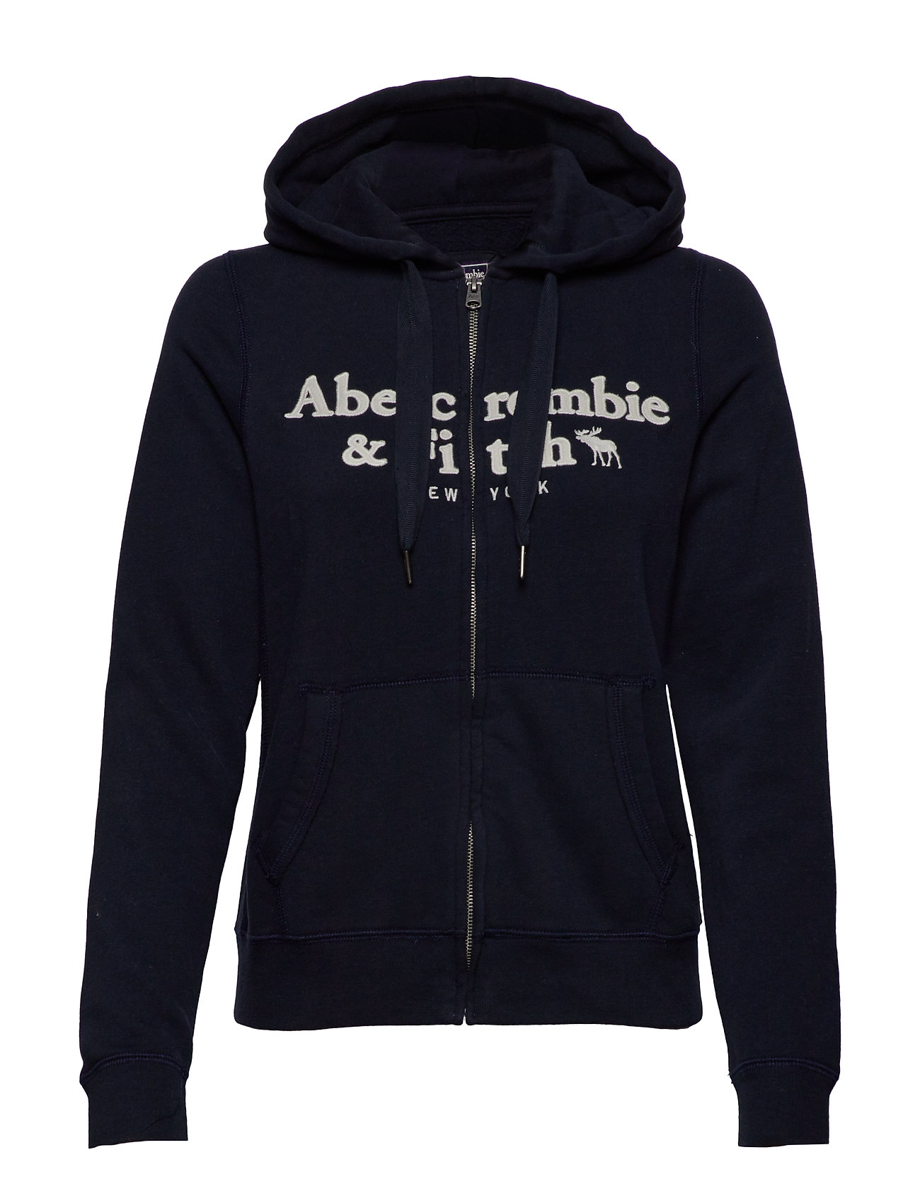 Abercrombie & Fitch Classic Logo Full-Zip - NAVY DD
