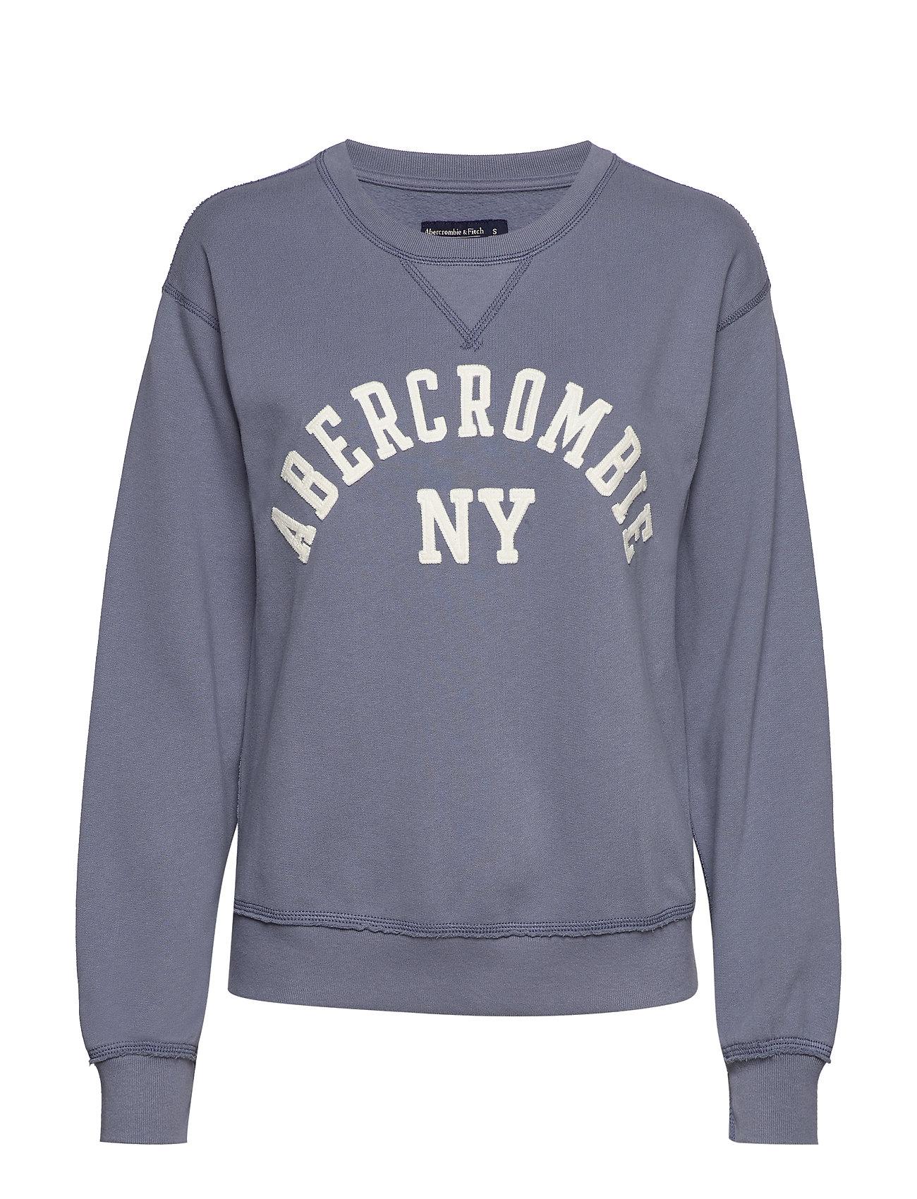 Abercrombie & Fitch Logo Crewneck Sweatshirt - MED BLUE DD