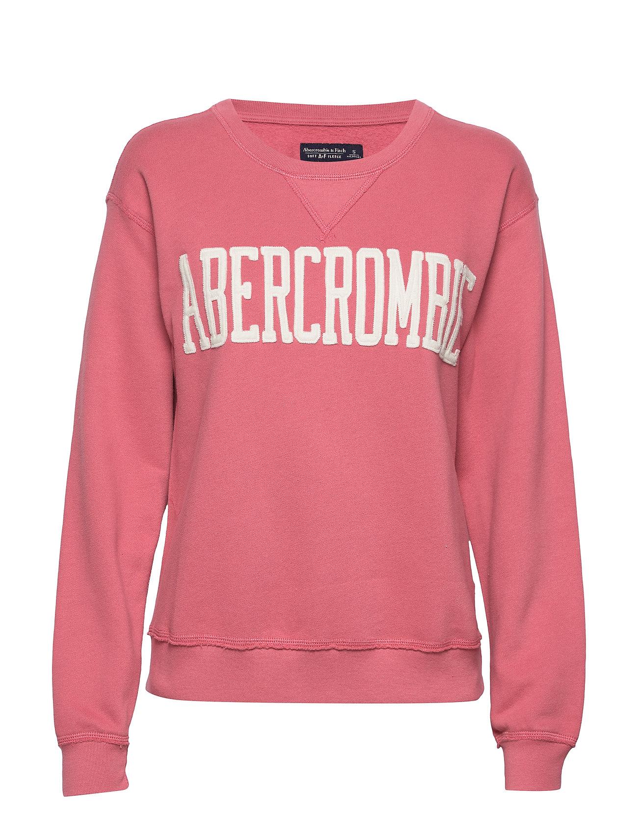 Abercrombie & Fitch Logo Crewneck Sweatshirt - RED DD