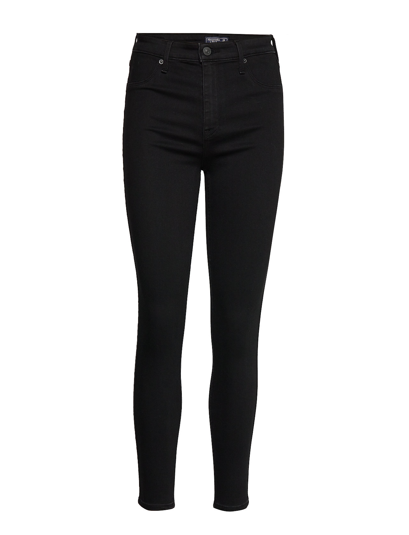 Abercrombie & Fitch High Rise Jean Legging - BLACK OD