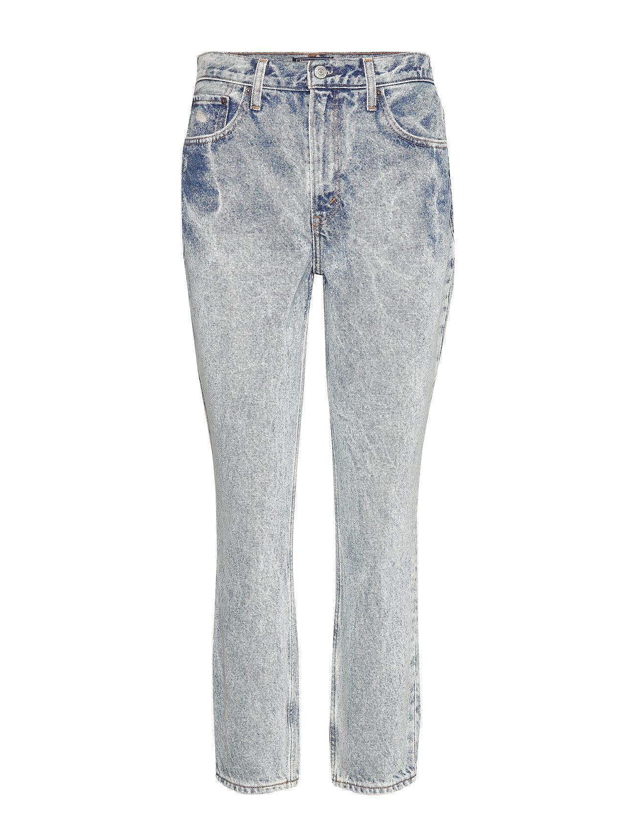 Abercrombie & Fitch Vintage Wash Mom Jeans - DARK