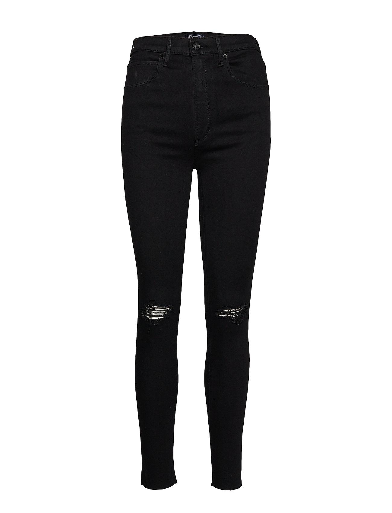 Abercrombie & Fitch Ultra High Rise Super Skinny - BLACK OD