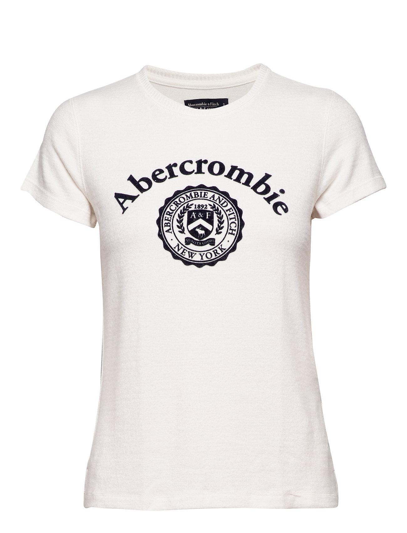 Abercrombie & Fitch Cozy Logo Tee - WHITE