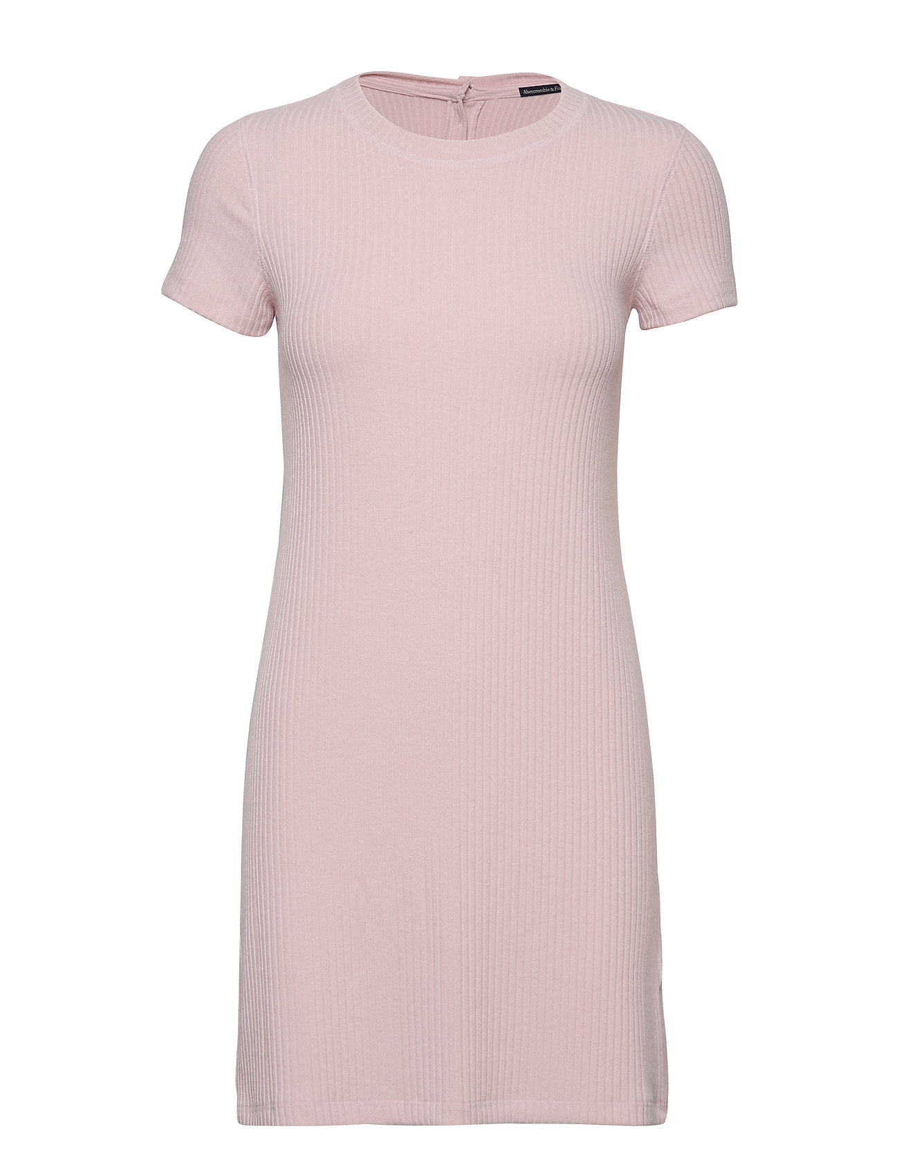 Abercrombie & Fitch Short Sleeve Rib Knit Dress - LIGHT PINK DD