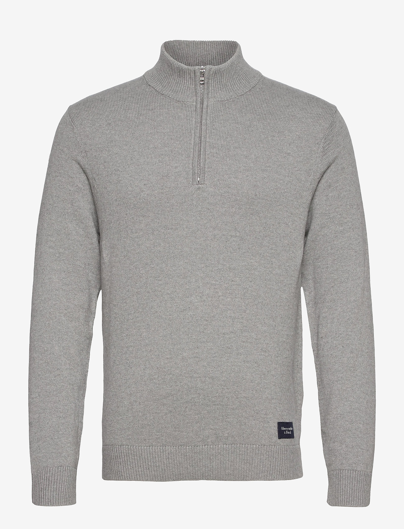 Abercrombie & Fitch - ANF MENS SWEATERS - half zip - med grey flat - 0