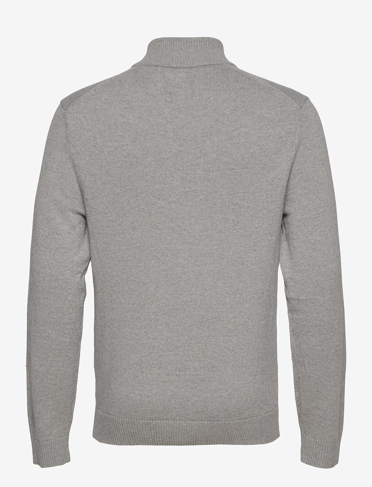Abercrombie & Fitch - ANF MENS SWEATERS - half zip - med grey flat - 1