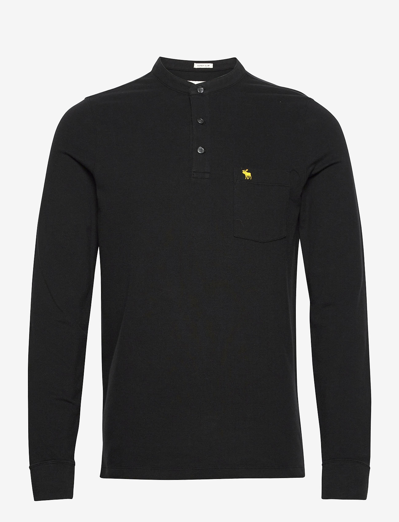 Abercrombie & Fitch - ANF MENS KNITS - half zip - black - 0