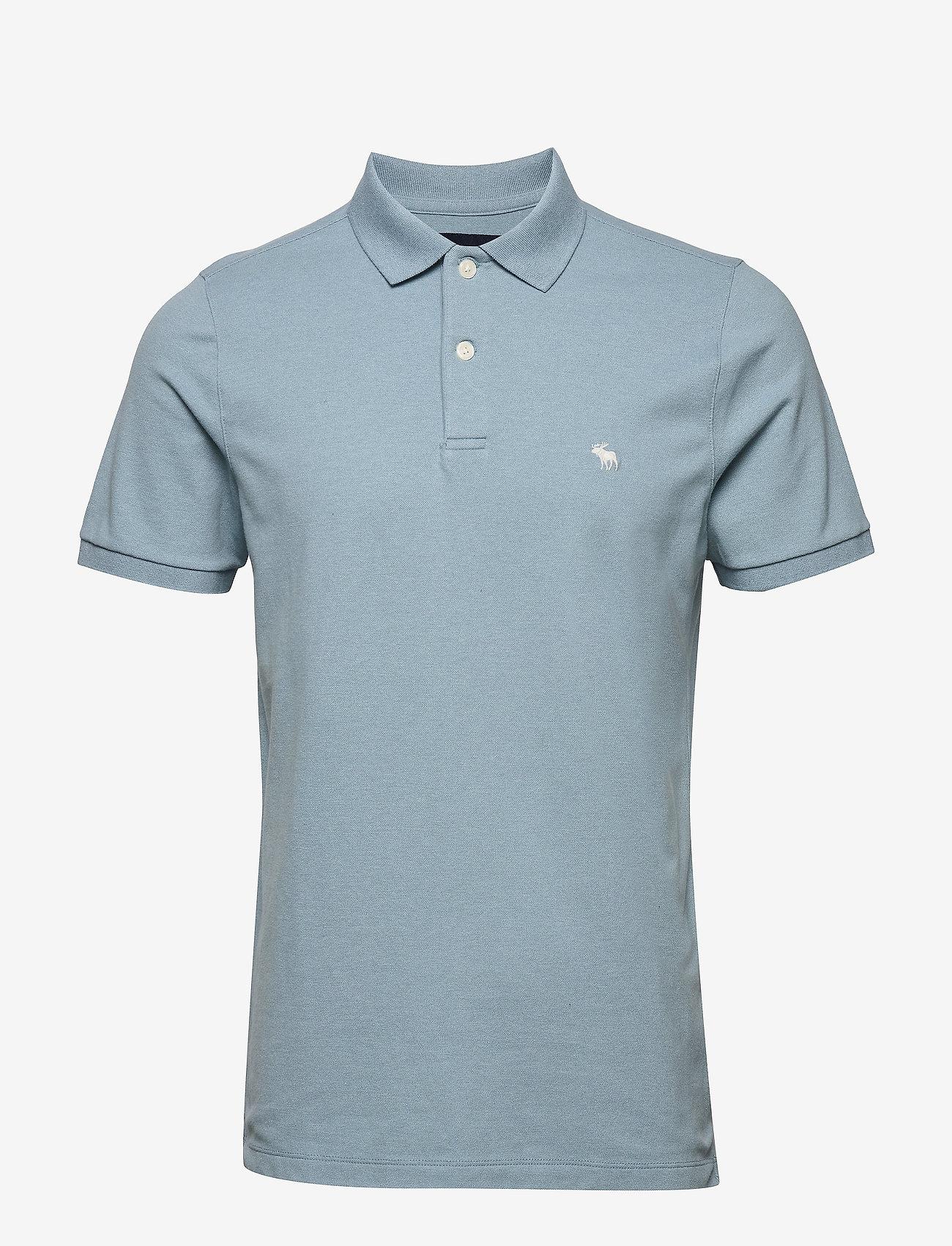 Abercrombie & Fitch - Core Polo - polos à manches courtes - light blue sd/texture - 0