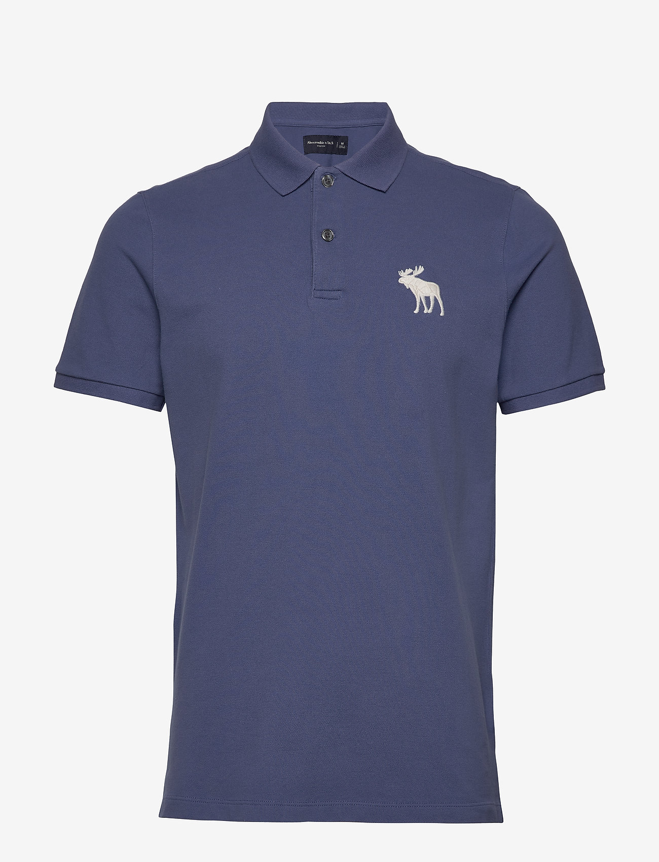 Abercrombie & Fitch - Exploded Polo - polos à manches courtes - med blue dd - 0